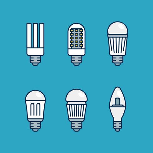 Led-lampor vektor