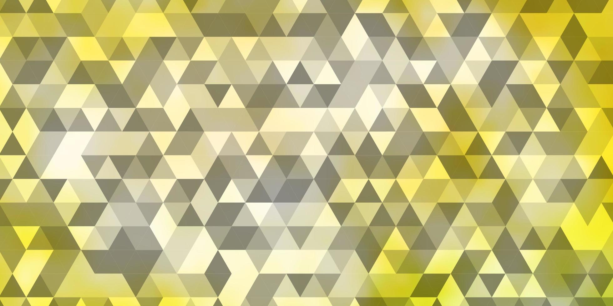 hellgrüner, gelber Vektorhintergrund mit Dreiecken. vektor