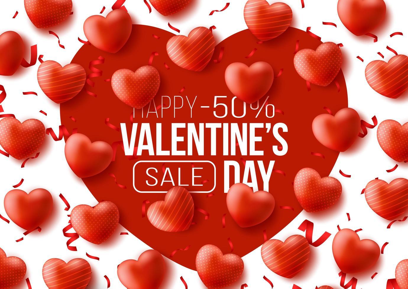 Promo-Web-Banner für den Valentinstag-Verkauf vektor