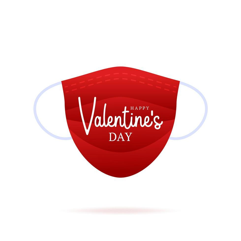 niedliche realistische Valentinstag medizinische Maske vektor