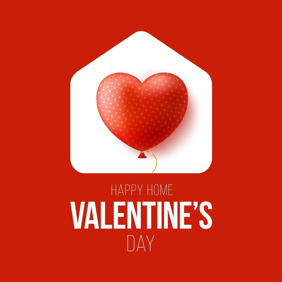 lyckligt hem alla hjärtans dagskort vektor