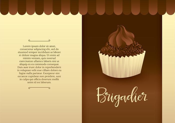 Brigadiero-Kuchen-freier Vektor
