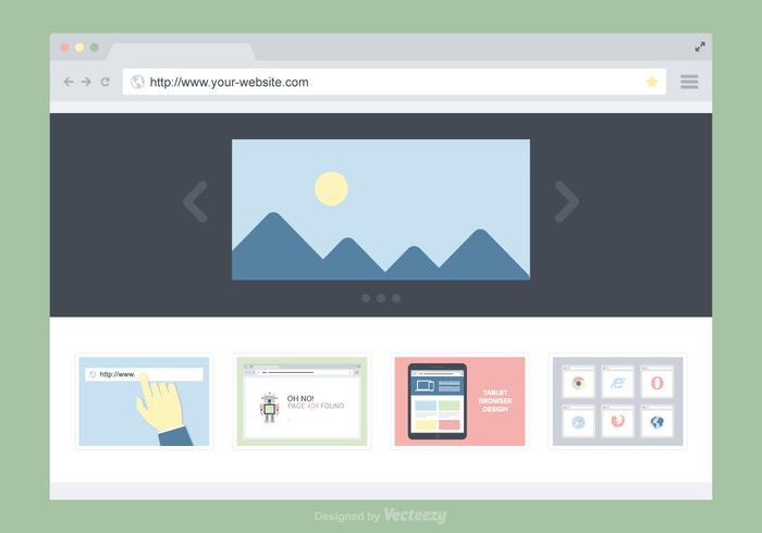 platt webbläsarfönster vektor design