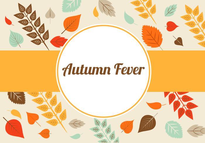 Herbstlaub-Vektor-Hintergrund vektor