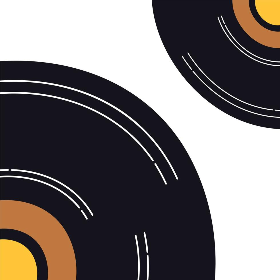 Musik Vinyl Disk Record isoliert Symbol vektor