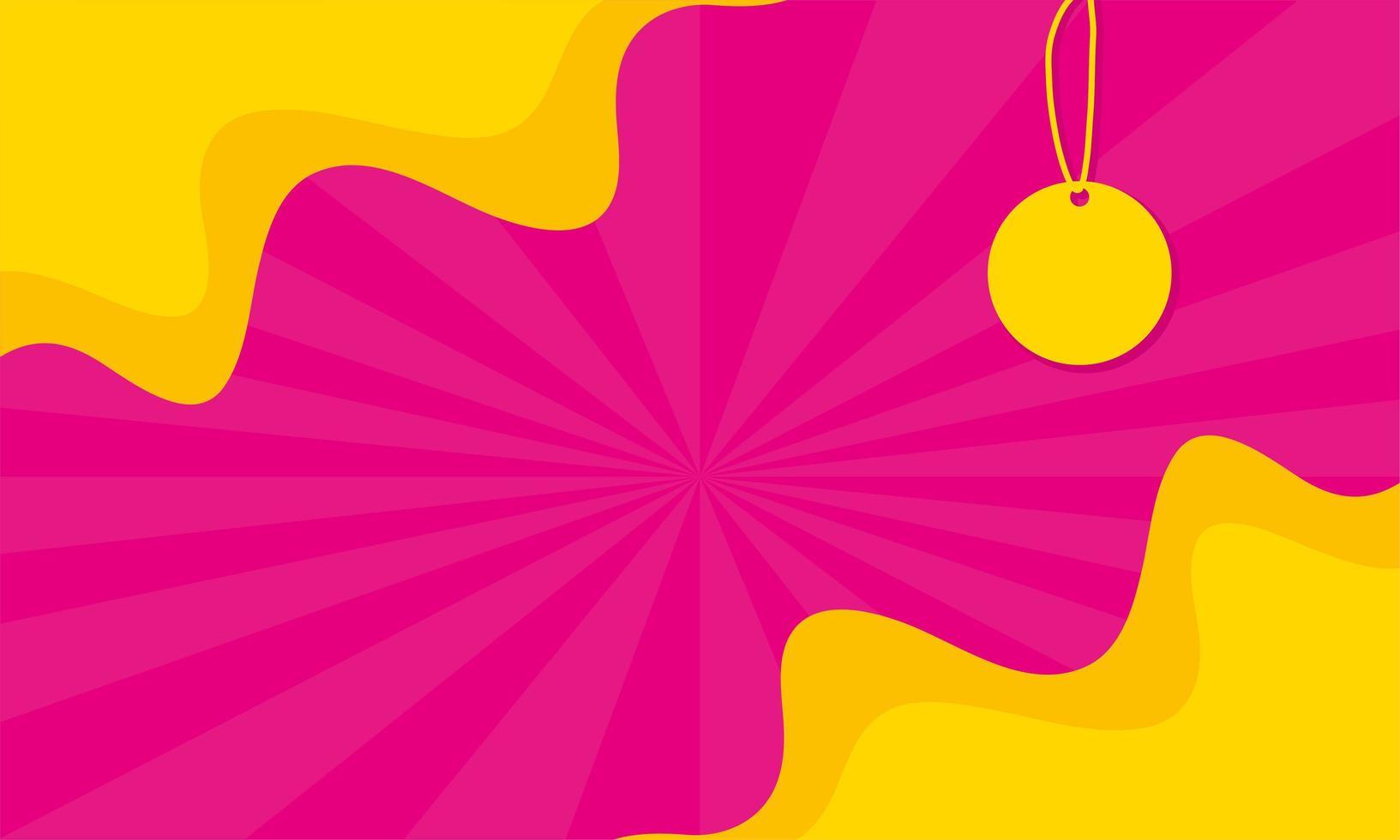 etikett hängande försäljning banner färger affisch vektor