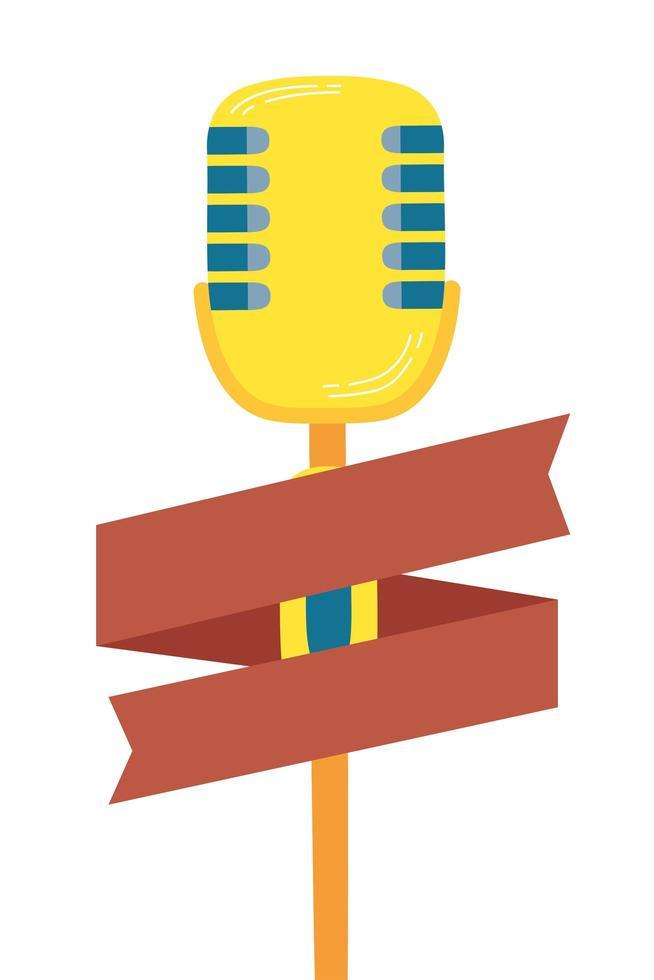 Symbol für Audiogerät mit Mikrofon vektor