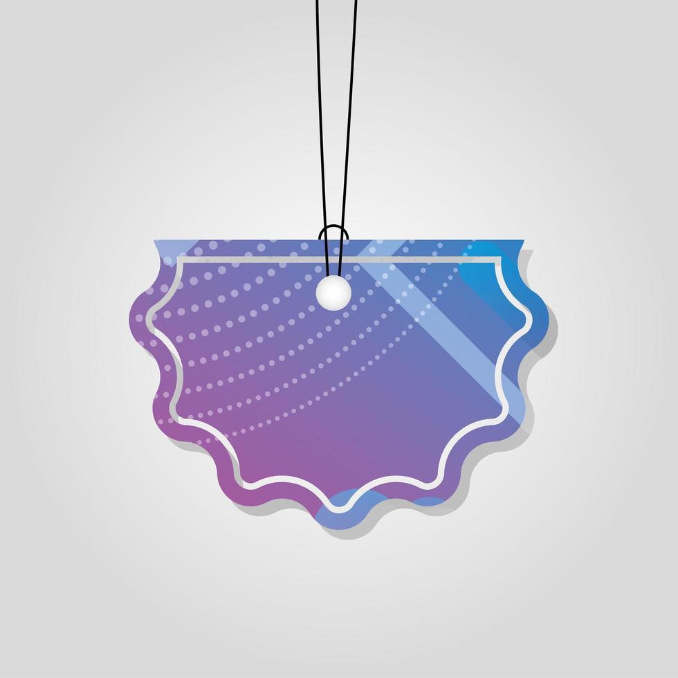 kommersiell tagg med lila livlig färg vektor
