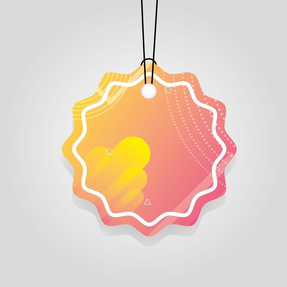 orange kommersiell tagg med livlig färg vektor