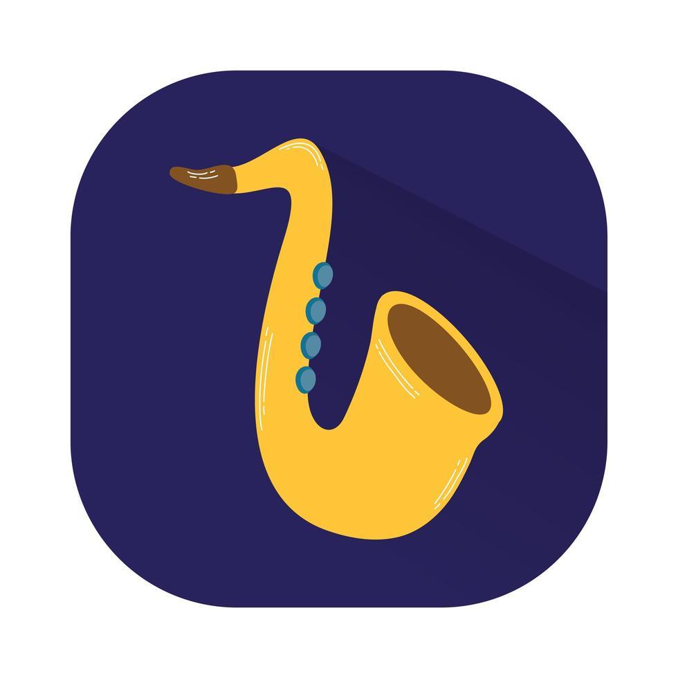 saxofon musikinstrument isolerad ikon vektor