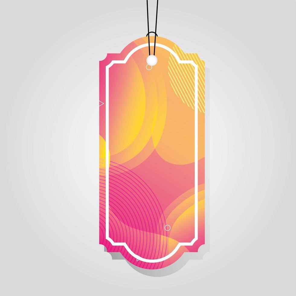 kommersiell tagg med rosa levande färg vektor