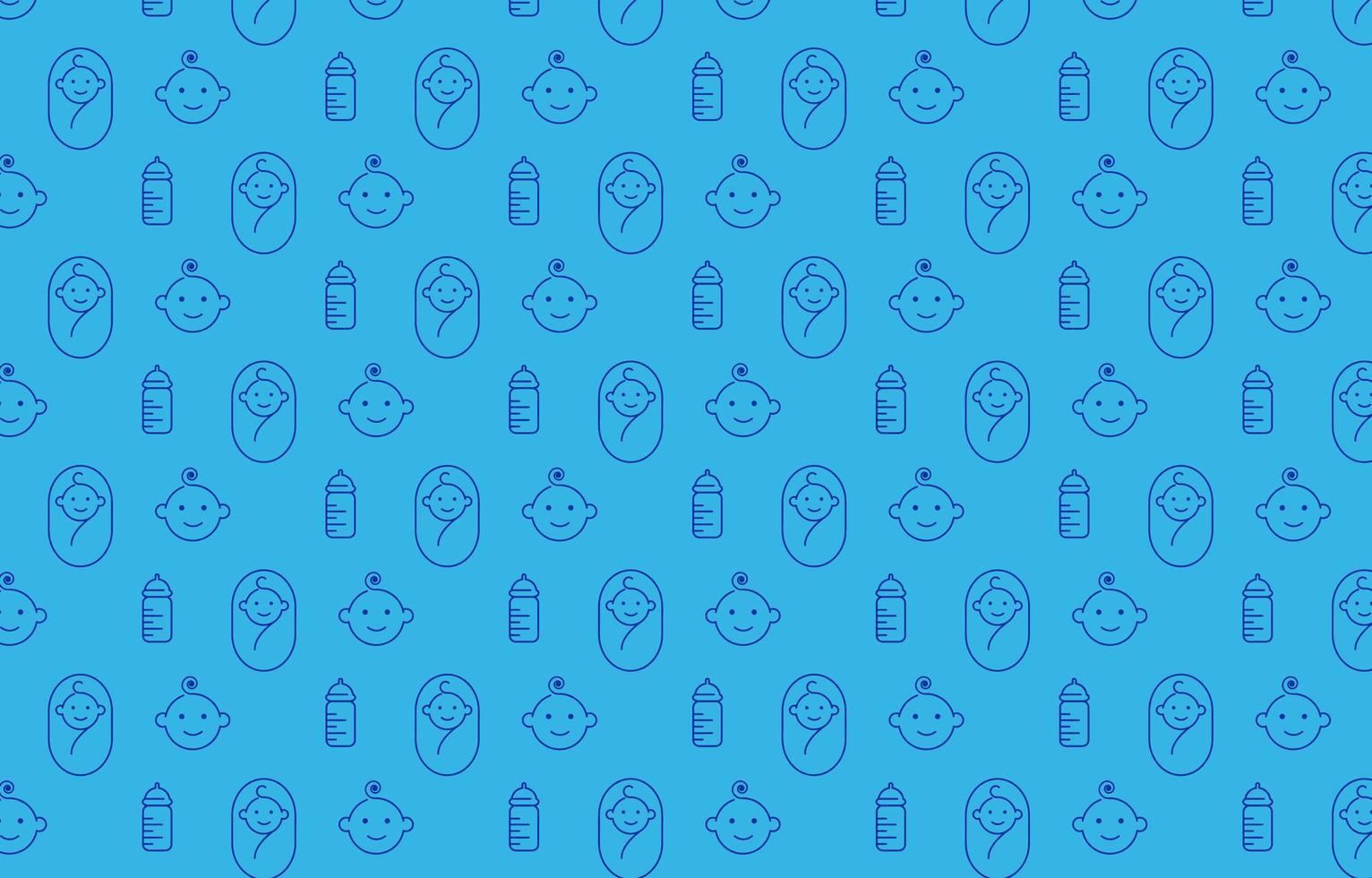 baby ikon mönster design för bakgrund och dekoration vektor