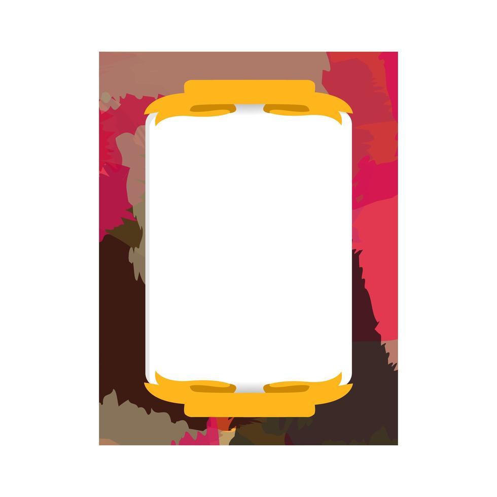 abstrakte Aquarellrahmen-Fotovorlagenentwurf zum Drucken vektor