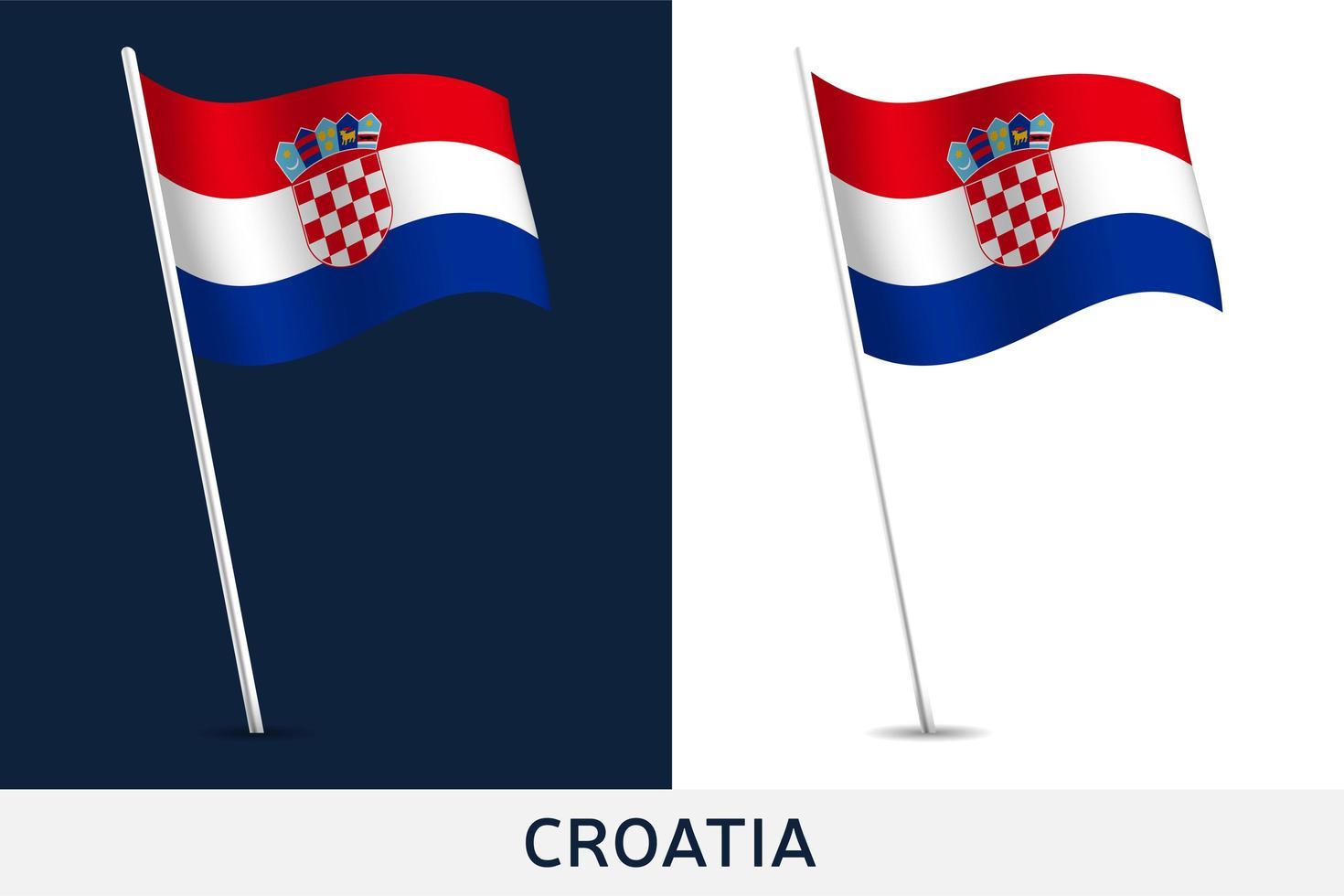 Kroatien Vektor Flagge