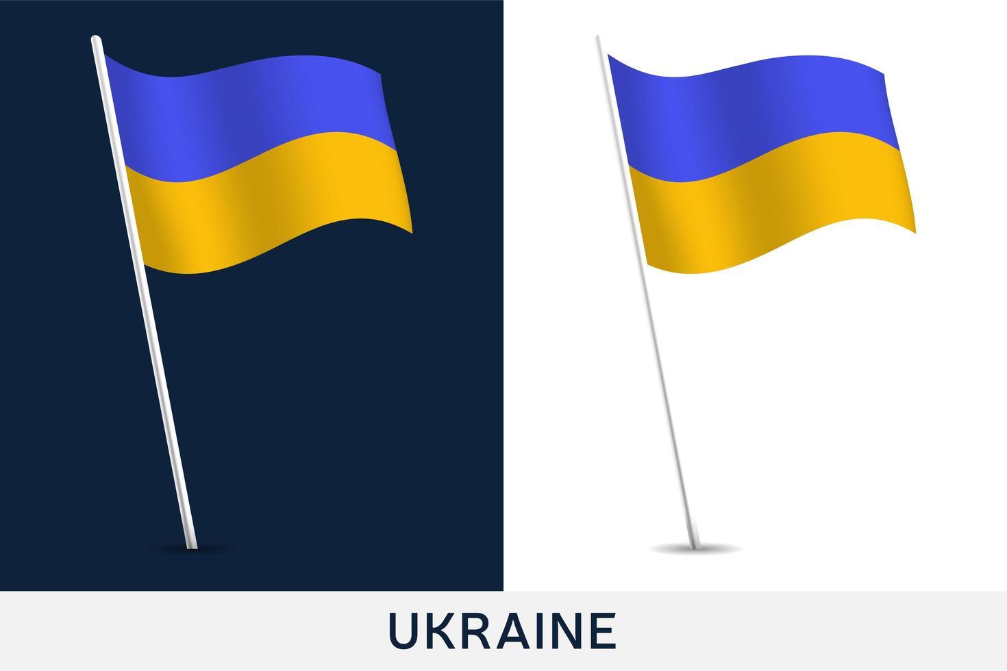 Ukraina vektor flagga