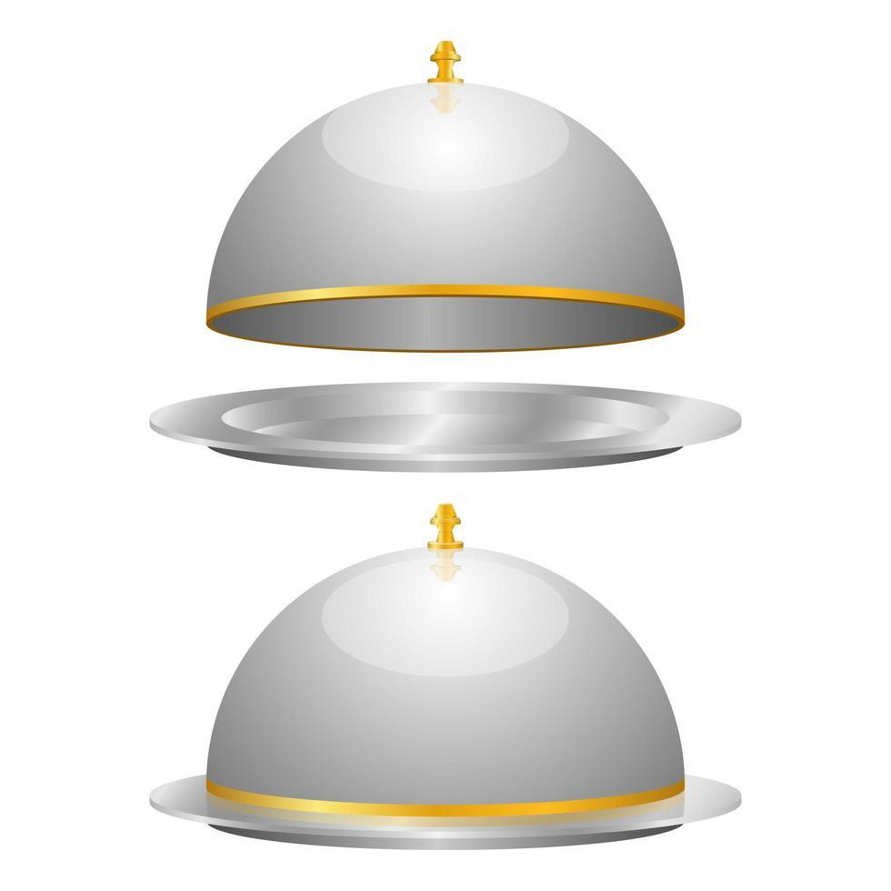 Cloche Set Vektor Design Illustration isoliert auf weißem Hintergrund