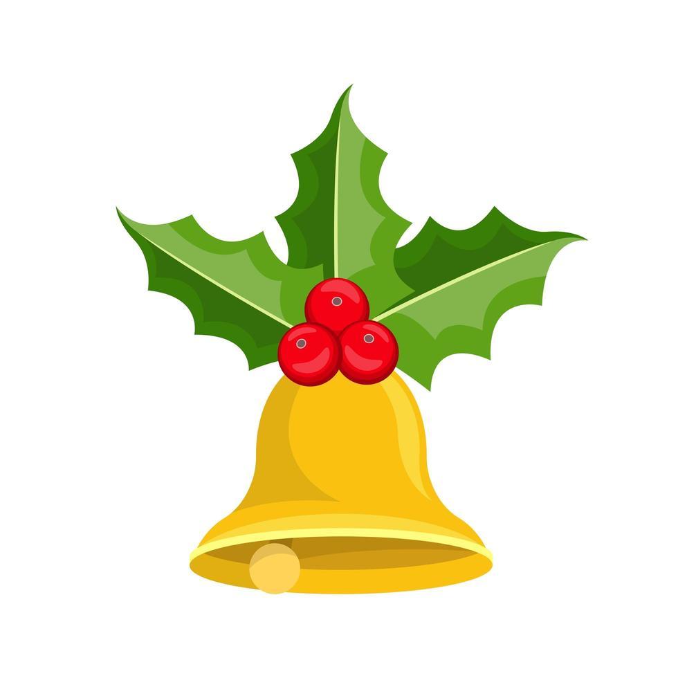 jul klockor vektor design illustration isolerad på vit bakgrund