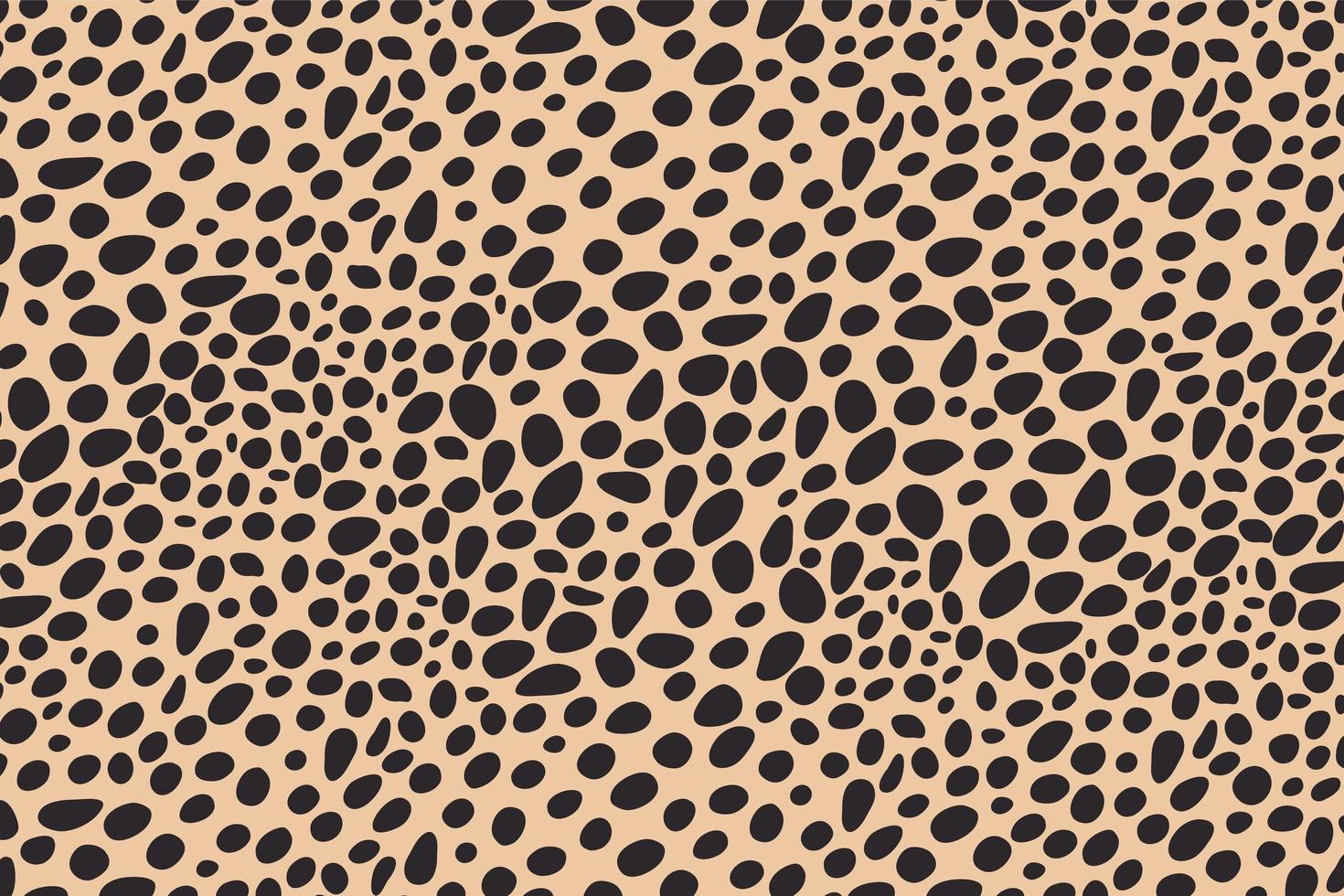 abstrakte Punkte Tierdruckdesign. Leopardenmuster. Gepardenhaut Hintergrund. vektor