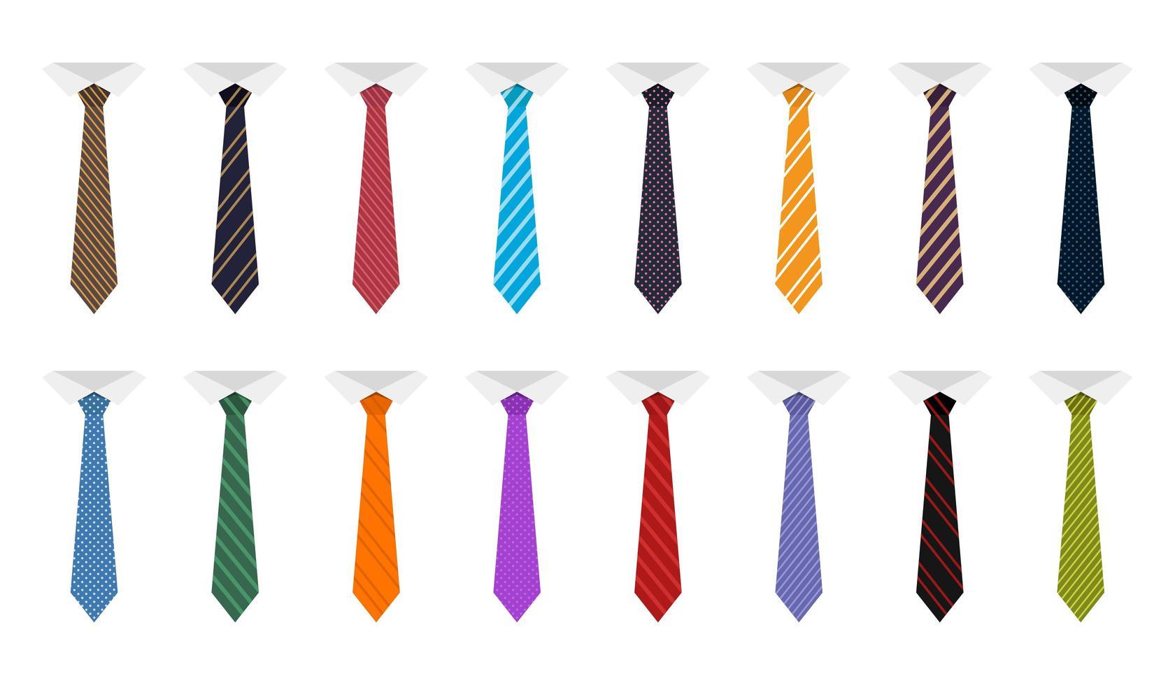 Krawattenvektor-Designillustration lokalisiert auf weißem Hintergrund vektor