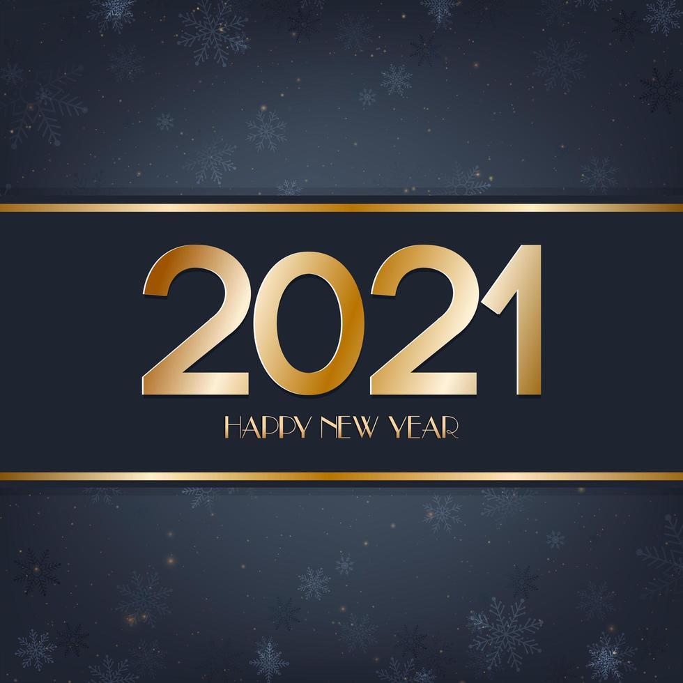 Frohes neues Jahr blau und Gold Hintergrund vektor