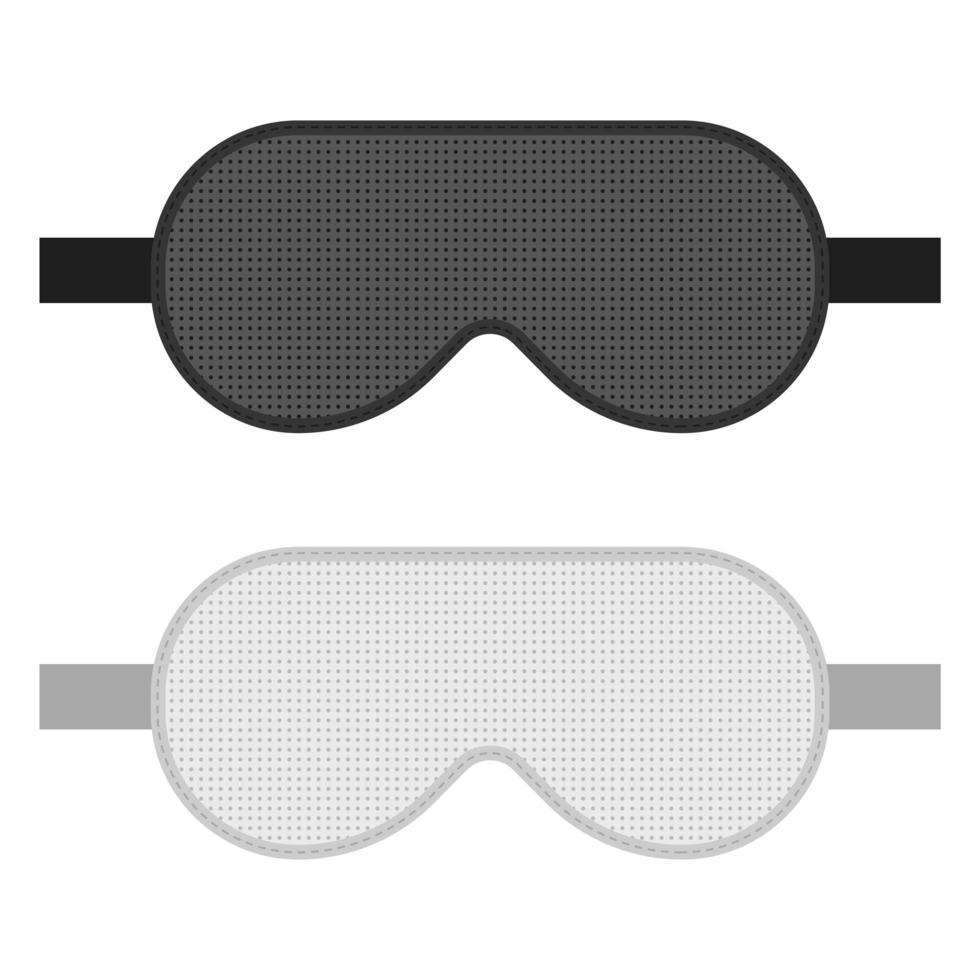 Schlafmasken-Vektorentwurfsillustration lokalisiert auf weißem Hintergrund vektor