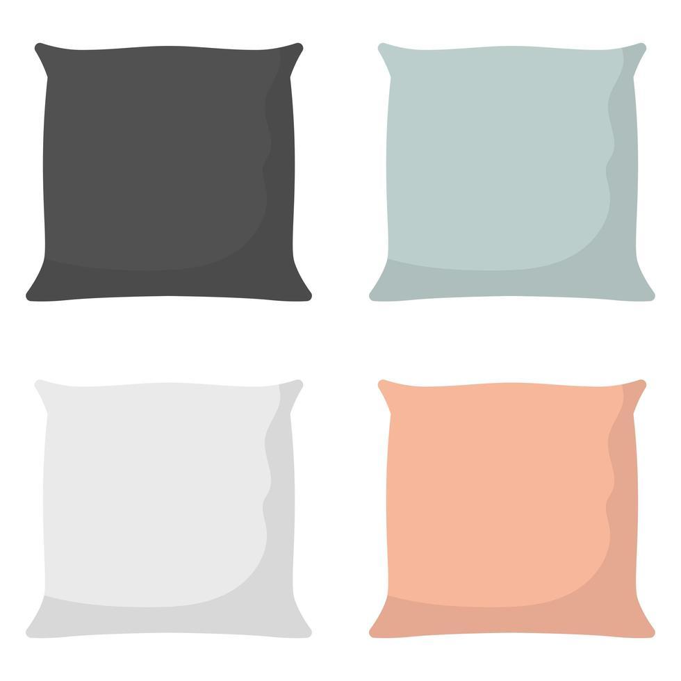 Kissen für Bettvektorentwurfsillustration lokalisiert auf Hintergrund vektor