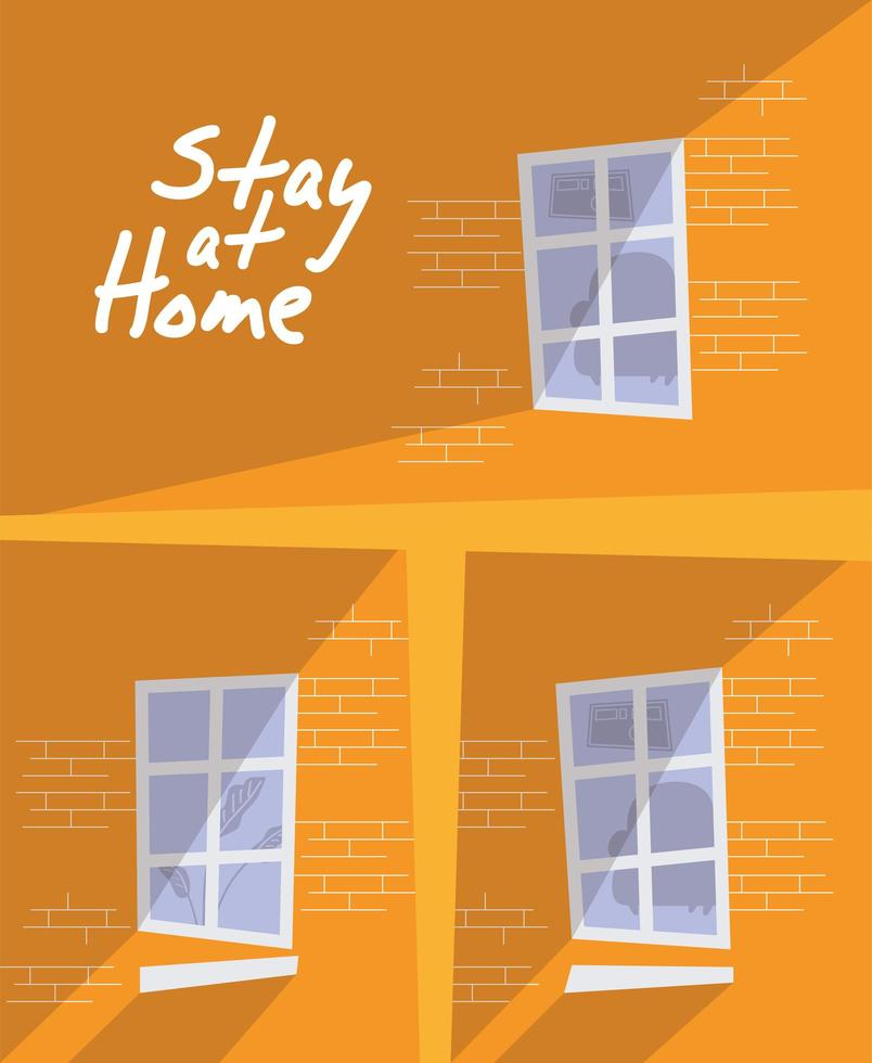 husbyggnader bo hemma kampanj vektor