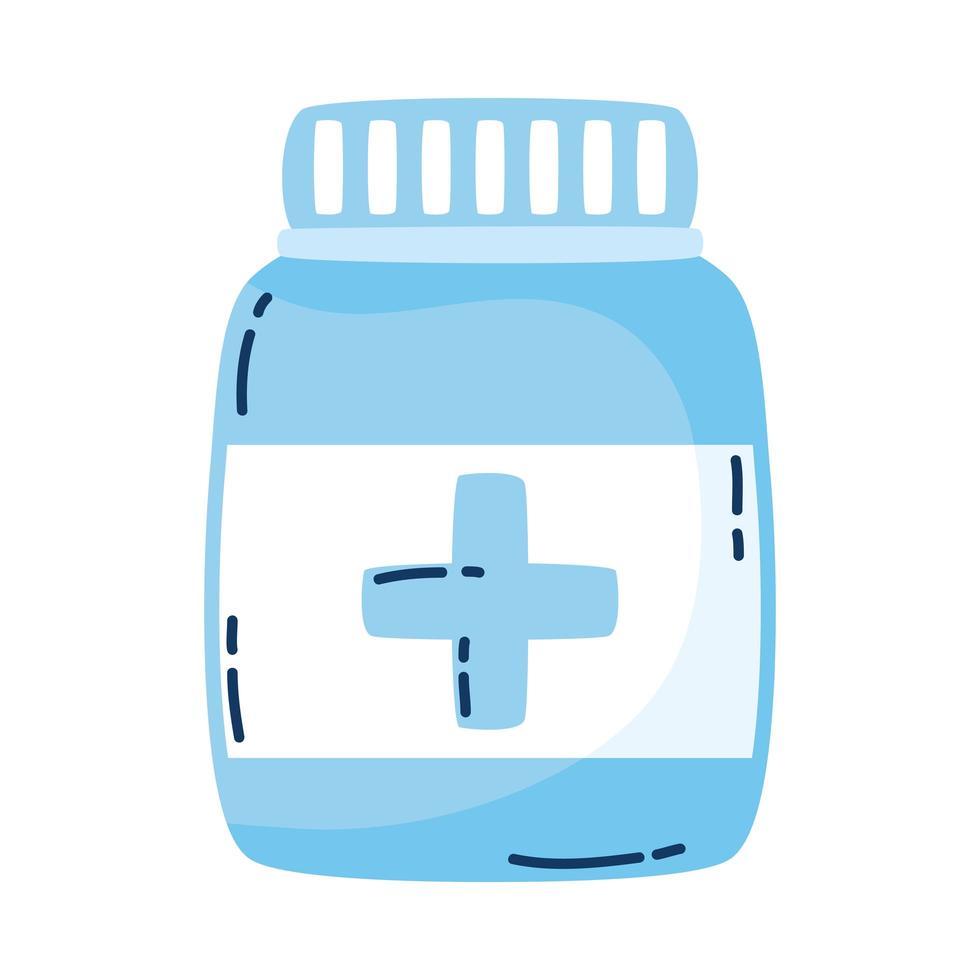 medicin flaska läkemedel isolerad ikon vektor