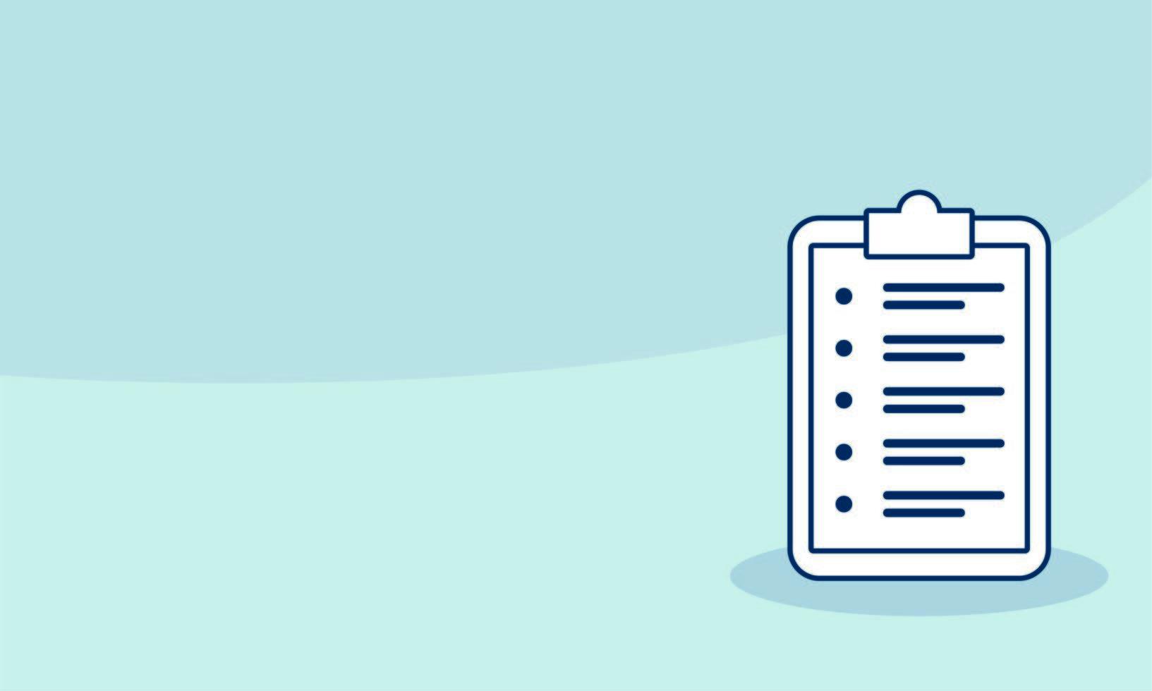 Checkliste Zwischenablage Dokument isoliert Symbol vektor
