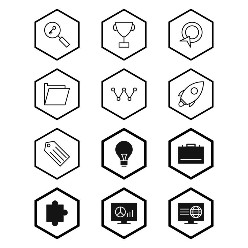 ikonuppsättning för sökmotoroptimering för personligt och kommersiellt bruk ... vektor