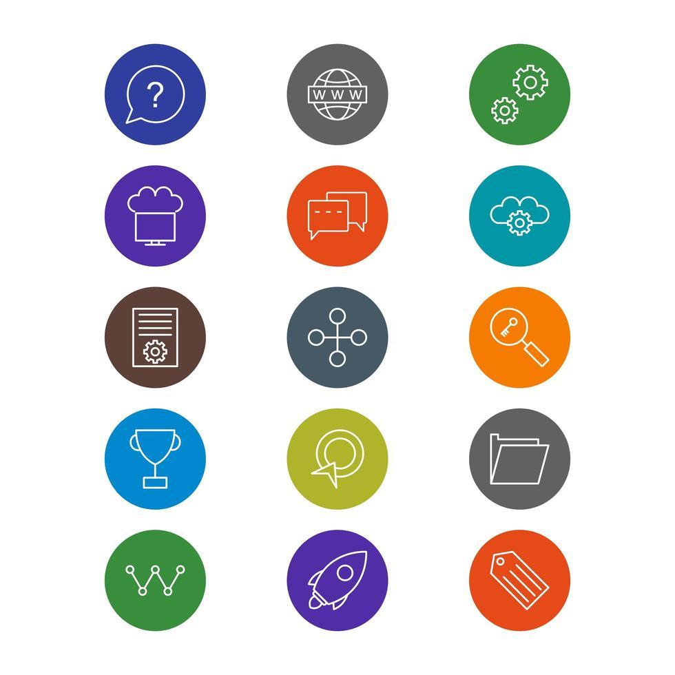 Icon Set der Suchmaschinenoptimierung für den persönlichen und kommerziellen Gebrauch ... vektor