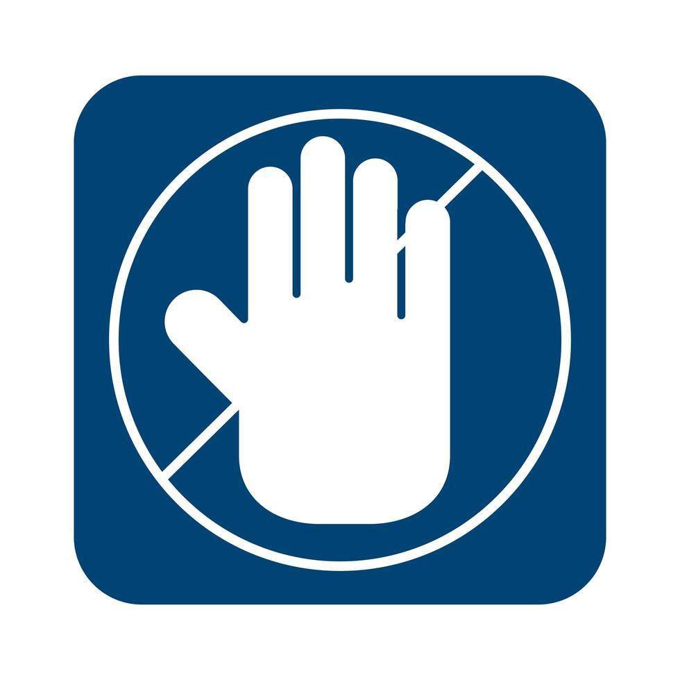 Handstopp-Signalleitungsstil vektor
