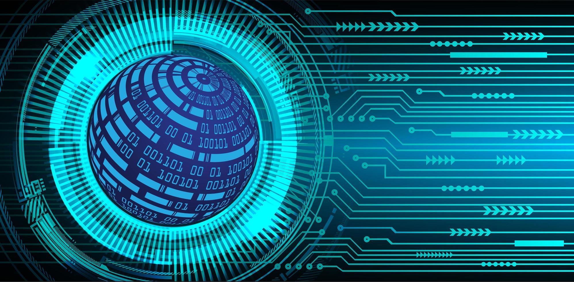 Zukunft und Technologie blauer Hologrammhintergrund mit Weltkarte vektor