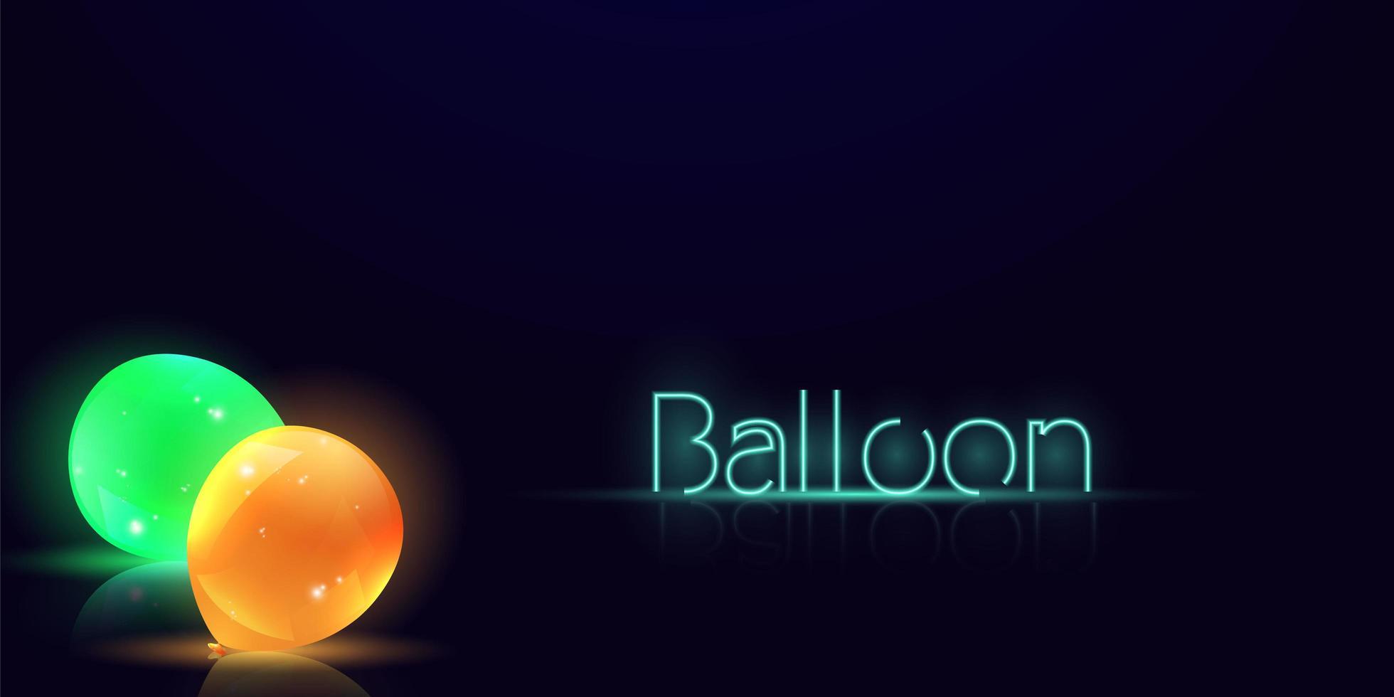 party ballonger och ballong text glöd design vektor