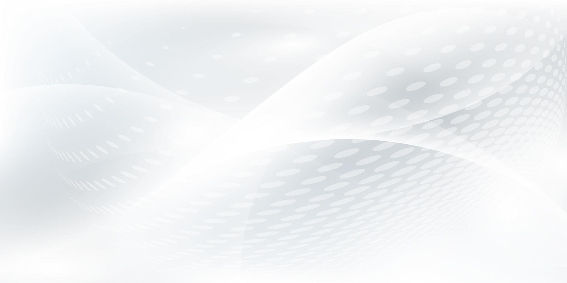abstraktes grauweißes Hintergrundplakat mit dynamischen Wellen. vektor