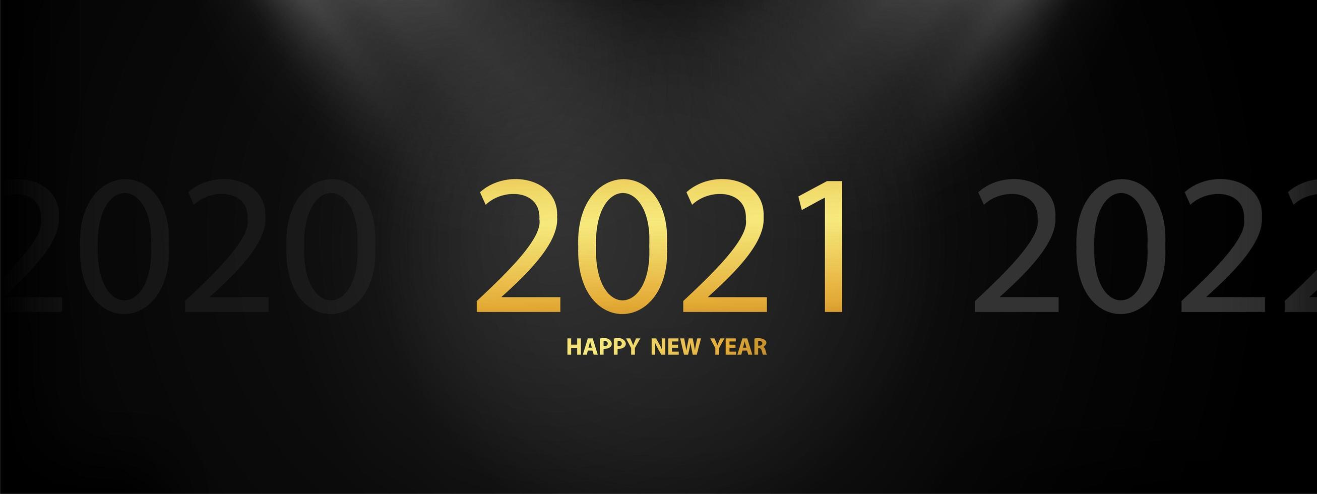 gott nytt år 2021 bakgrund. vektor
