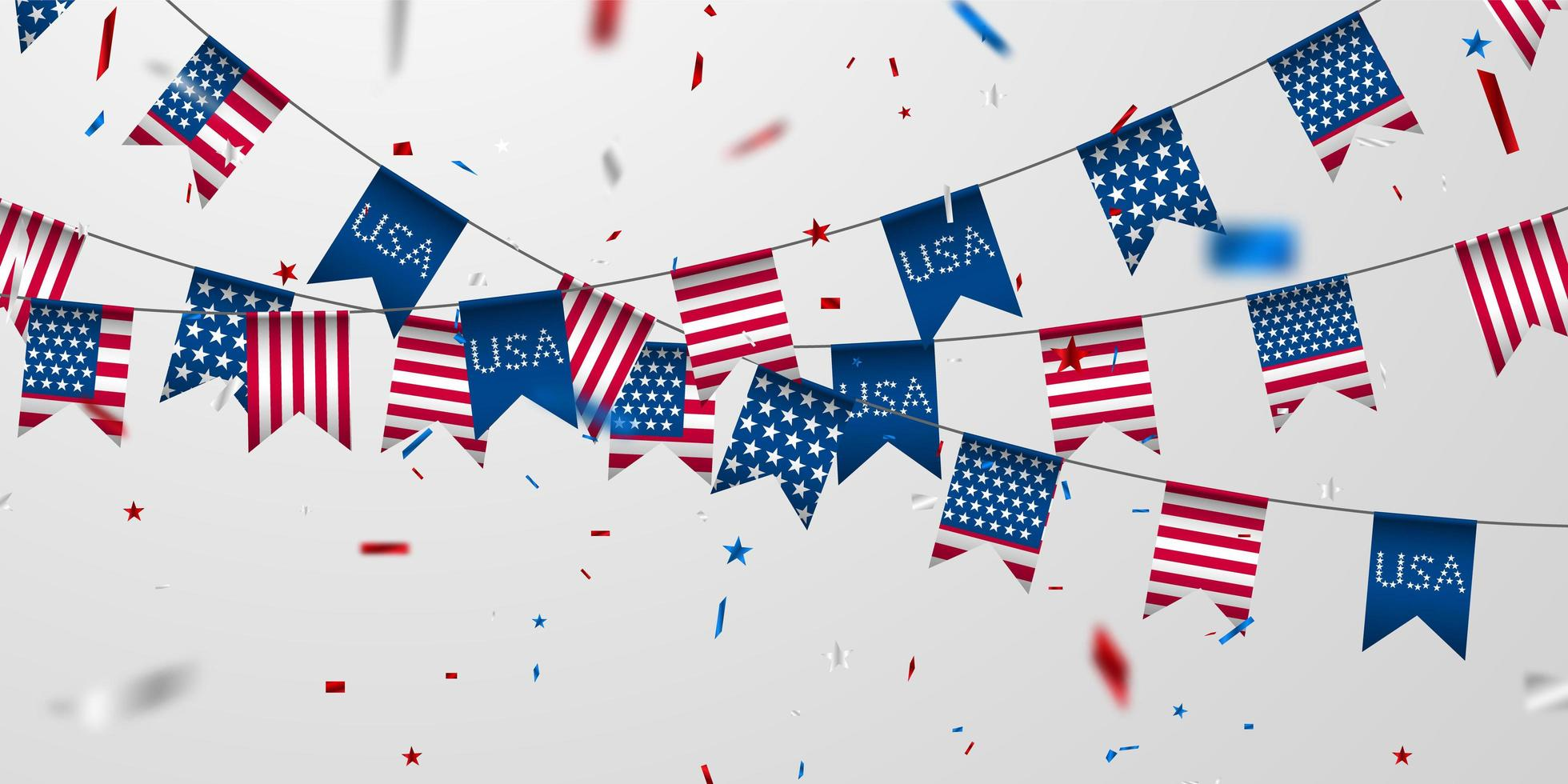amerikansk flaggabakgrund. vektor