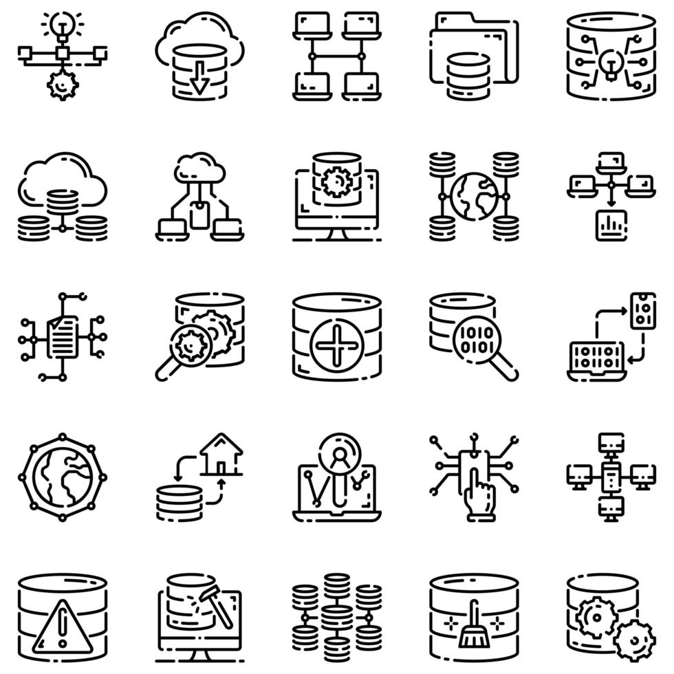 big data disposition icon set vol1 vektor