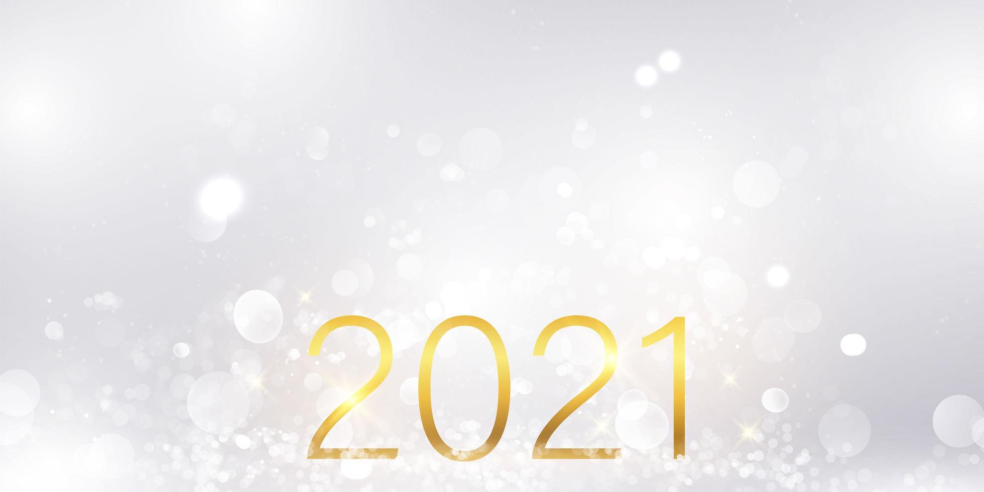 Frohes neues Jahr 2021 Hintergrund. vektor