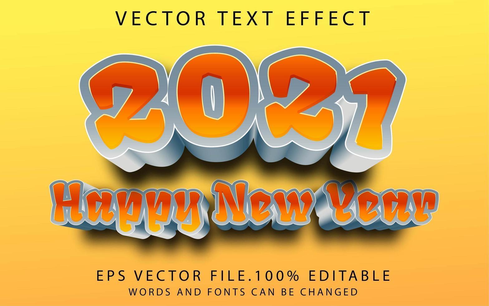 texteffekt gott nytt år vektor