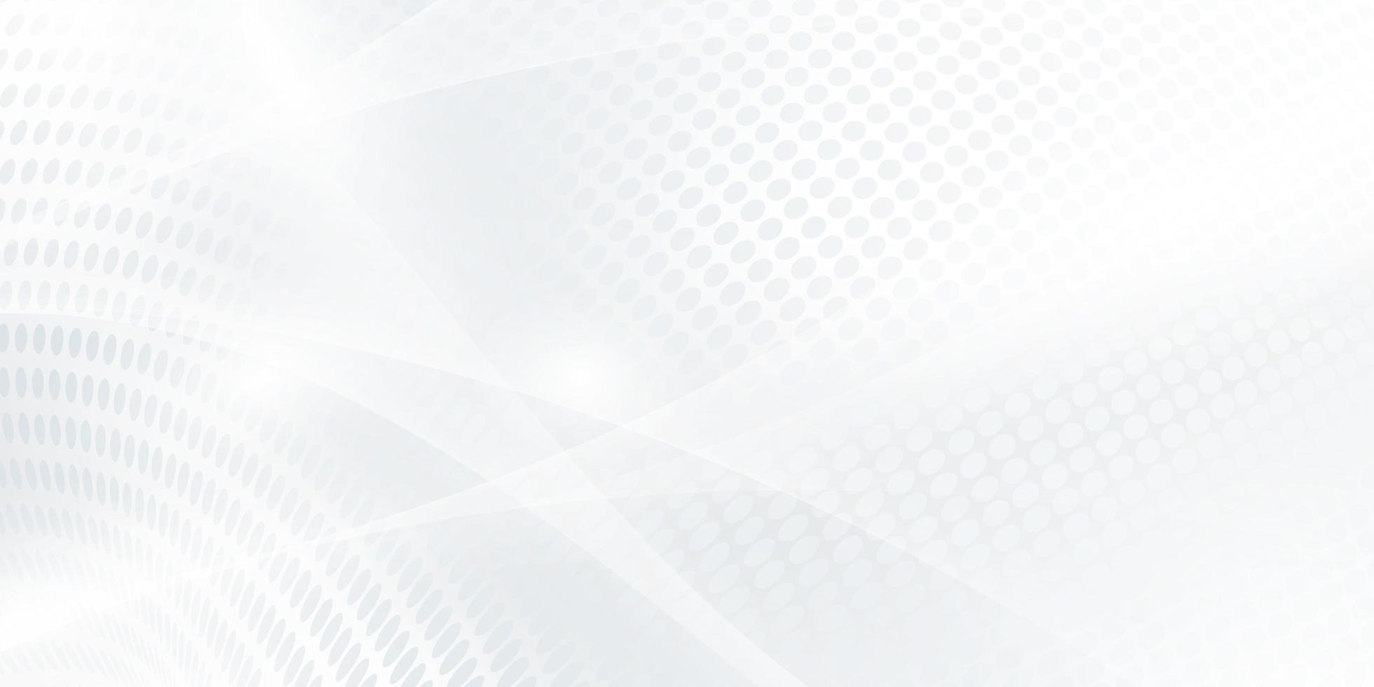 abstrakt grå vit bakgrundsaffisch med dynamiska vågor. vektor