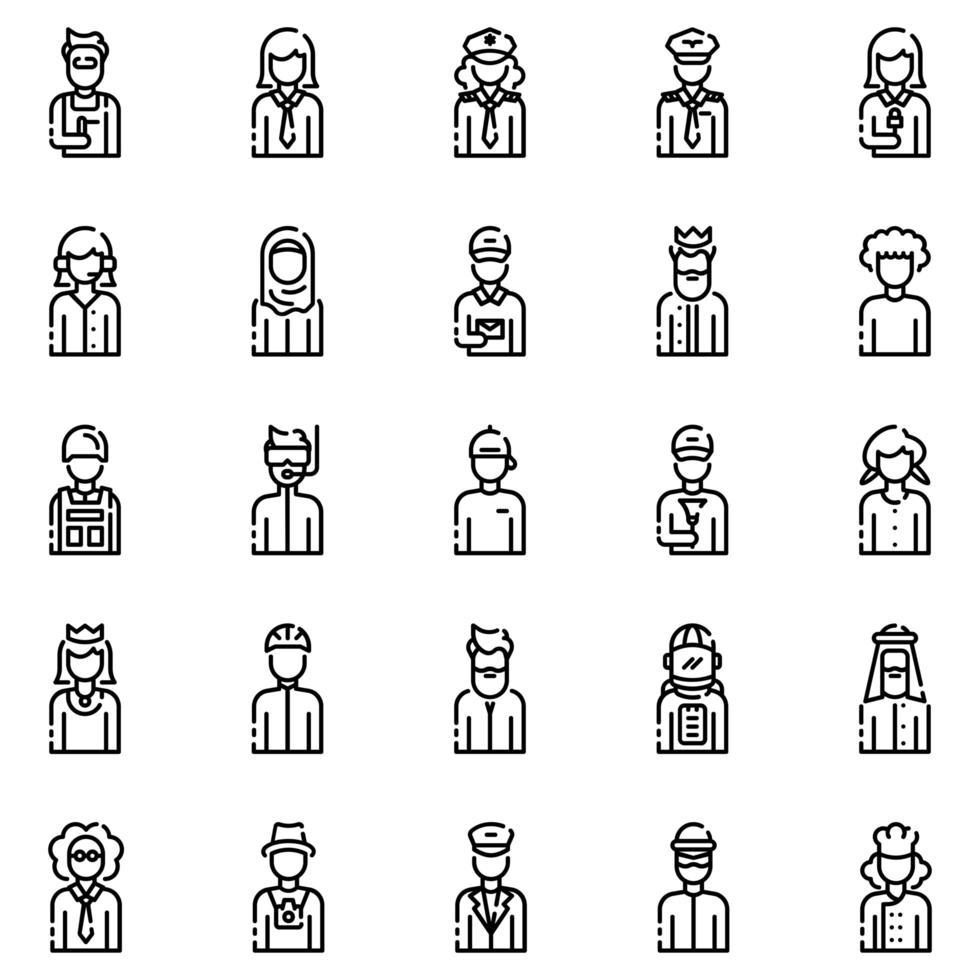avatarer disposition ikonuppsättning vol2 vektor