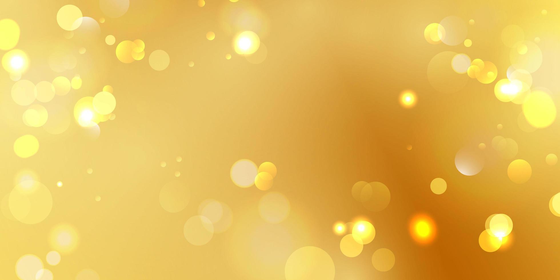 abstraktes unscharfes Lichtelement, das für Bokeh-Hintergrund mit Gelbgoldfarbe verwendet werden kann vektor