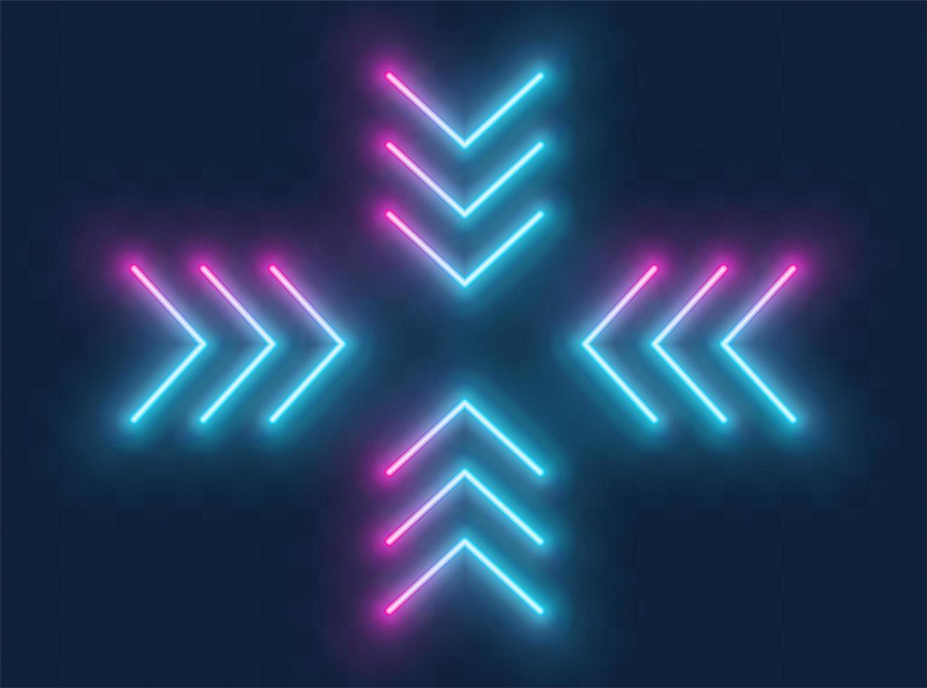 neon pil tecken vektor