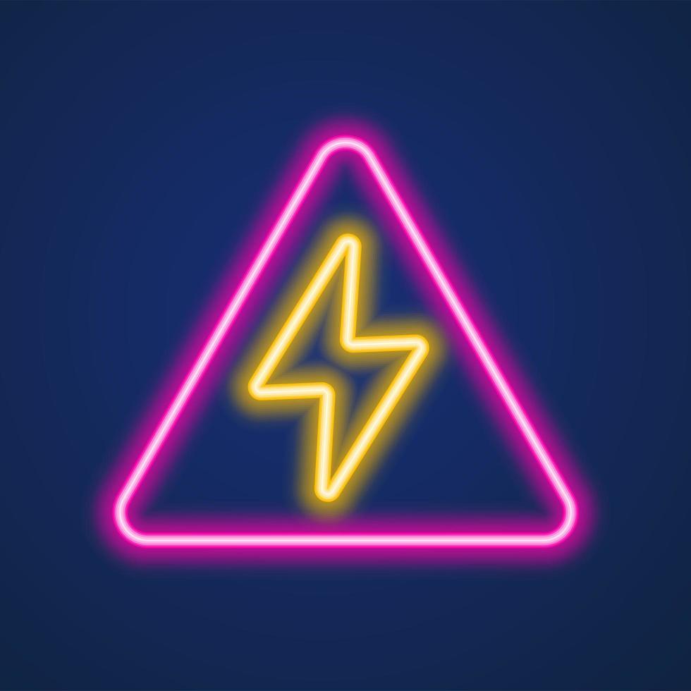 blixt neonskylt vektor