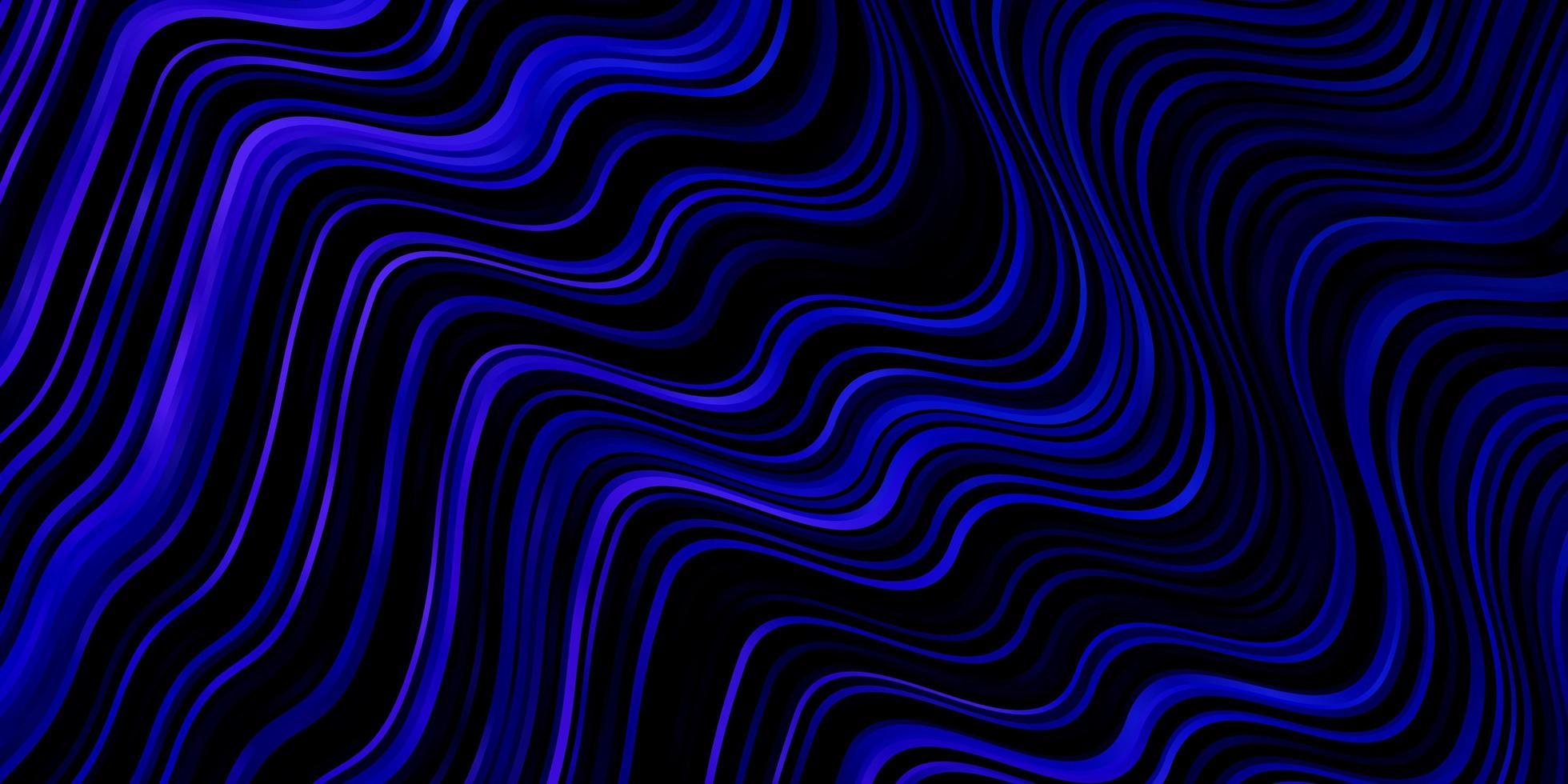 mörkrosa, blå vektorbakgrund med kurvor. vektor