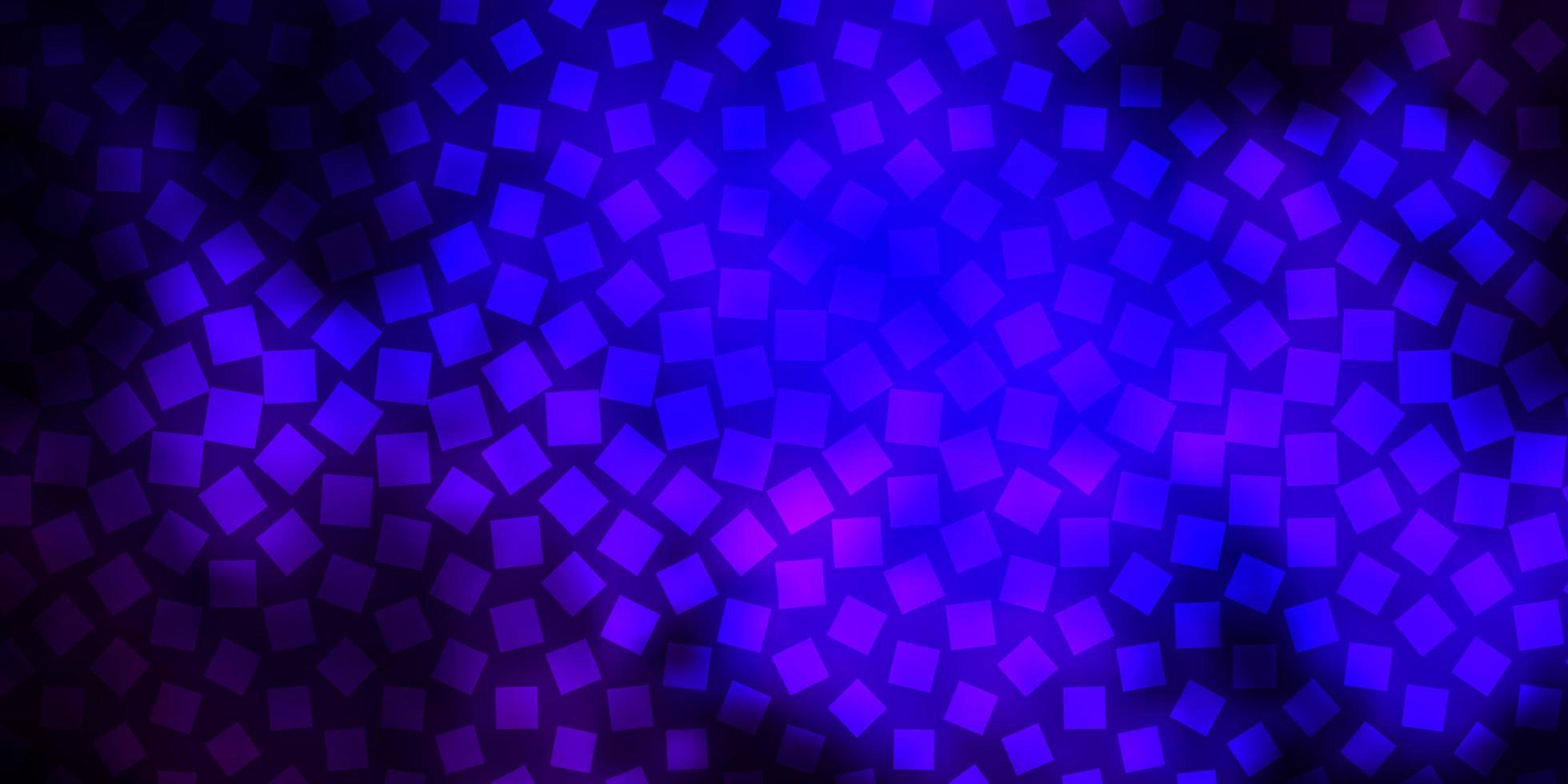 mörkrosa, blå vektorbakgrund med rektanglar. vektor
