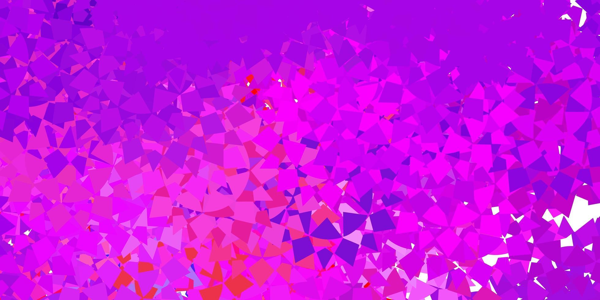 leichte mehrfarbige Vektortextur mit zufälligen Dreiecken. vektor