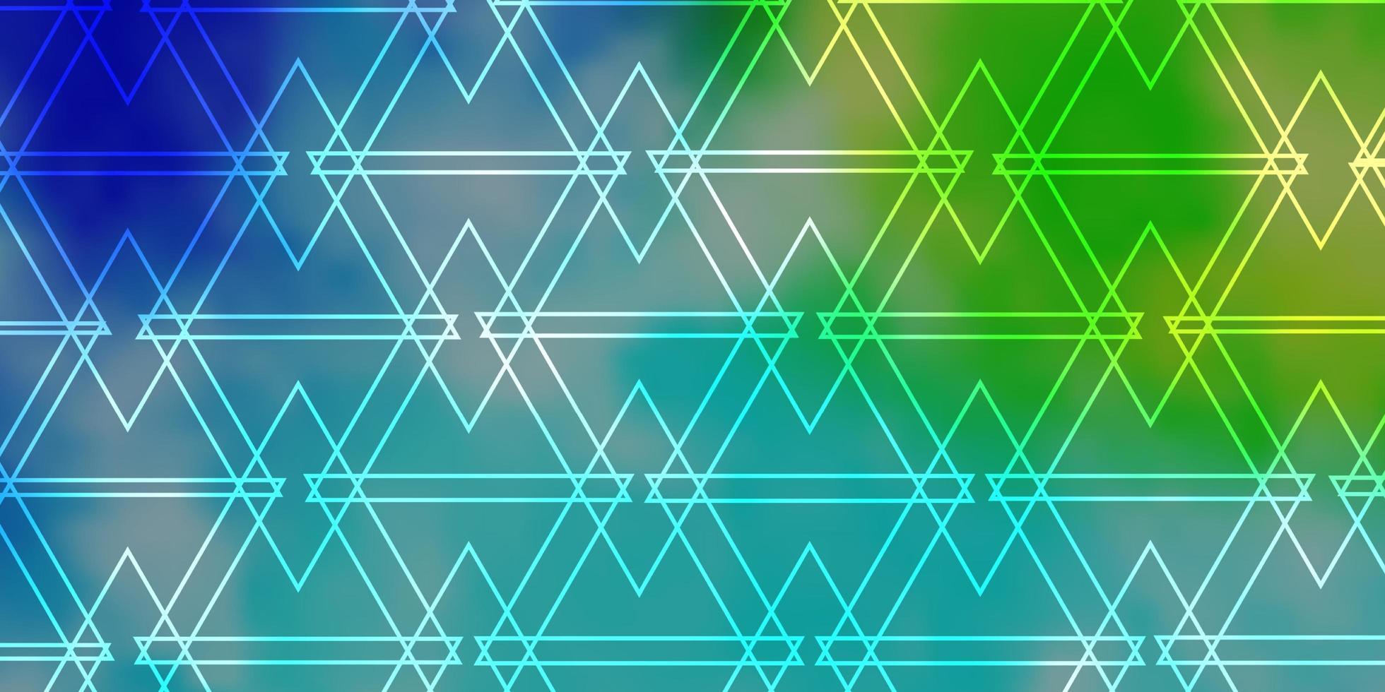 ljusblå, grön vektorstruktur med triangulär stil. vektor