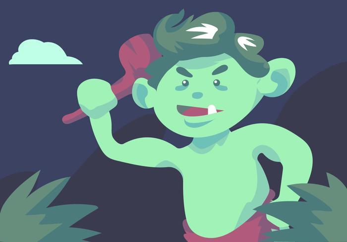 Grüner Troll vektor